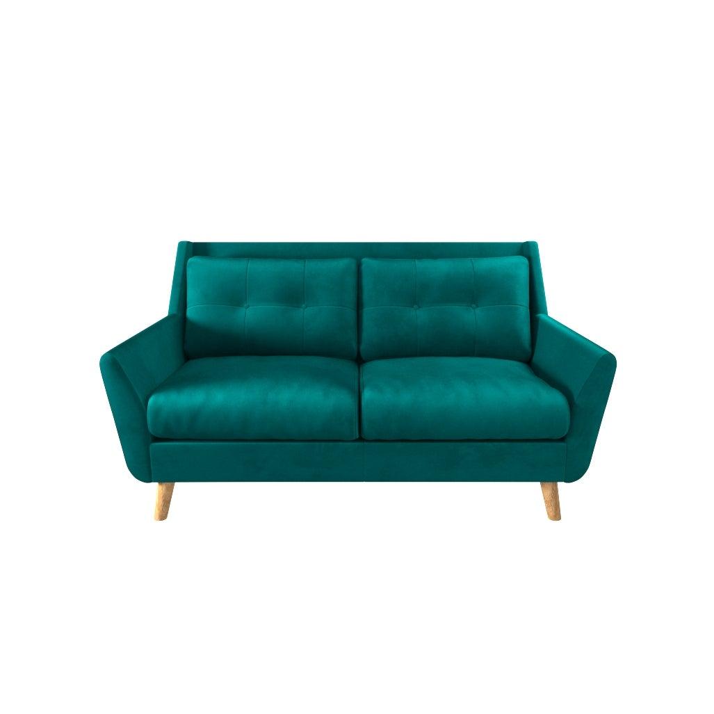 Halston Velvet 2 Seater Sofa Green
