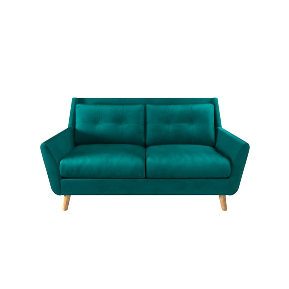 Halston Velvet 2 Seater Sofa Dark Green
