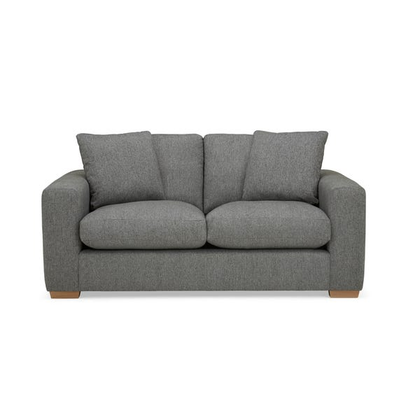 Porto Fabric 2 Seat Sofa - Dark Grey Dark Grey