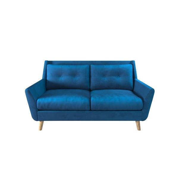 Halston Velvet 2 Seater Sofa Blue