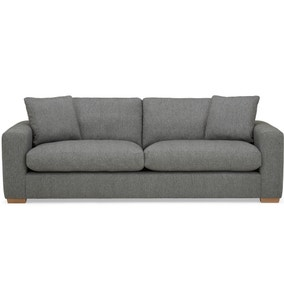 Porto Fabric 4 Seater Sofa - Dark Grey