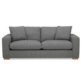 Porto Fabric 3 Seater Sofa - Dark Grey