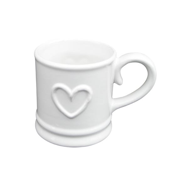 Country Heart Espresso Cup White