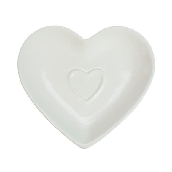 Country Heart Teabag Tidy White