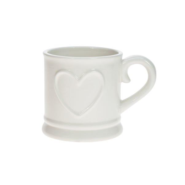 Country Heart Tankard Mug White