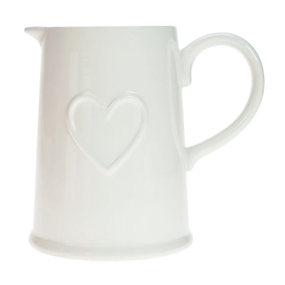 Country Heart Jug White