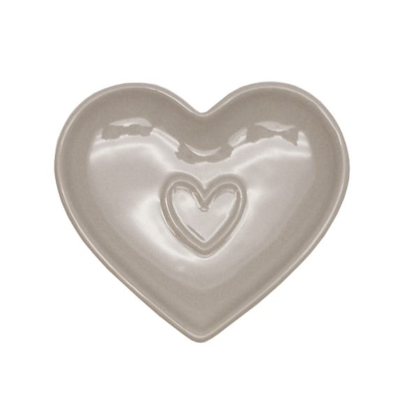 Country Taupe Heart Teabag Tidy Brown