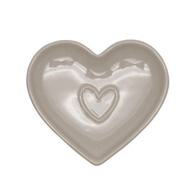 Country Taupe Heart Teabag Tidy