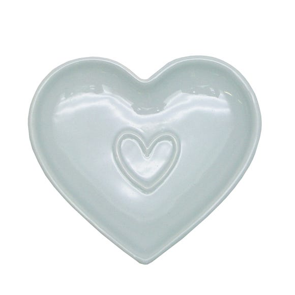 Country Heart Duck-Egg Teabag Tidy Blue