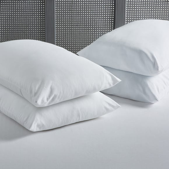 Pack of 4 Soft Touch Pillows White