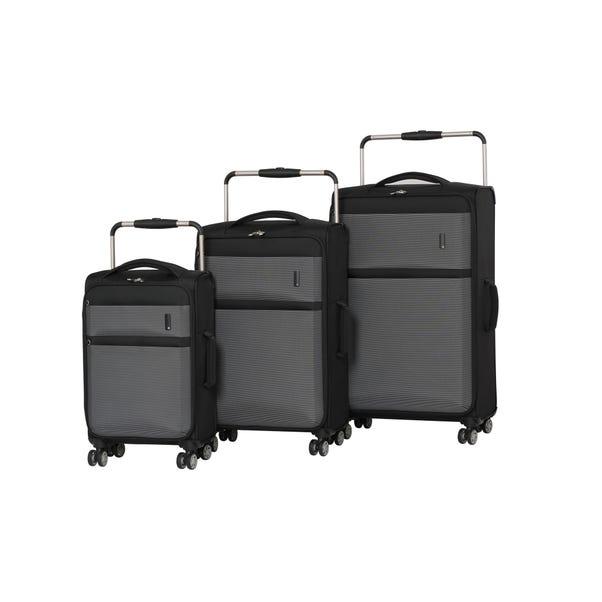 IT Luggage World's Lightest Black Suitcase Black undefined