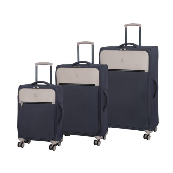 IT Luggage The Lincoln Dark Grey & Stone Suitcase  undefined