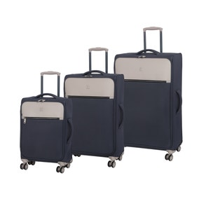 IT Luggage The Lincoln Dark Grey & Stone Suitcase
