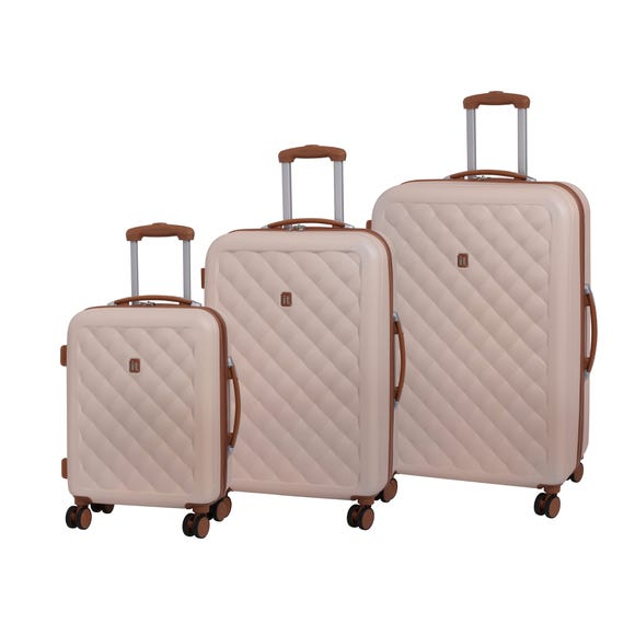 IT Luggage Fashionista Natural Hard Shell Suitcase  undefined