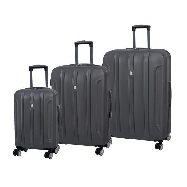 IT Luggage Graphite Hard Shell Suitcase Grey undefined