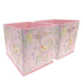 Little Hummingbirds Pack of 2 Storage Cubes