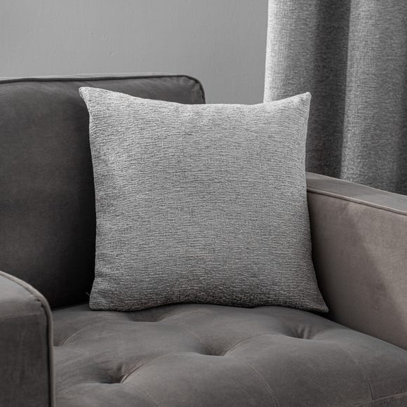 Textured Chenille Silver Cushion Silver