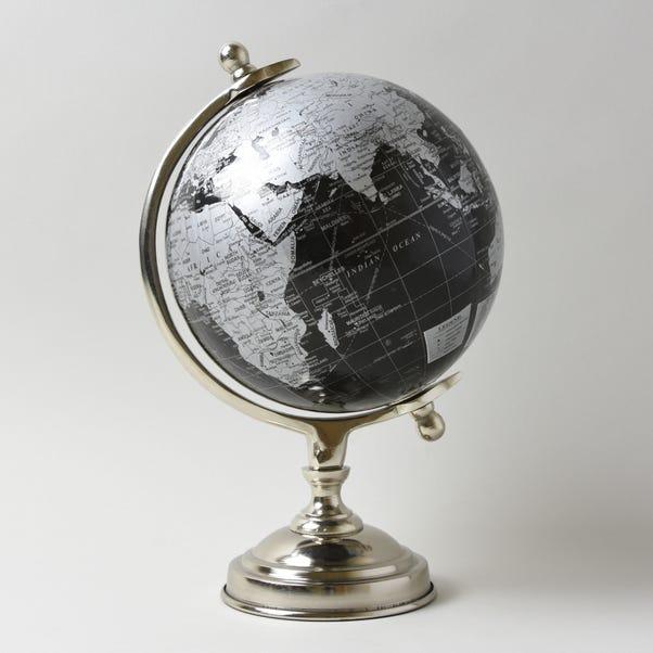 Decor Black and Silver Globe Black