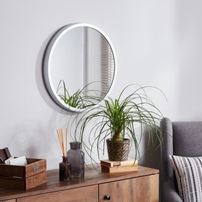 Elements Round Wall Mirror 55cm Silver
