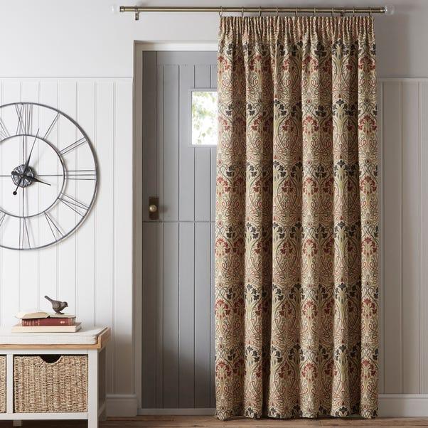 Lucetta Jewel Pencil Pleat Door Curtain  undefined