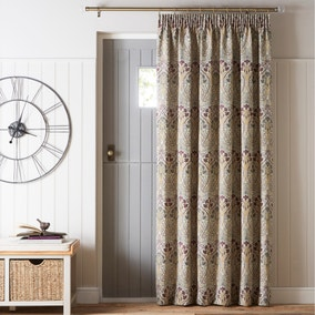 Lucetta Mauve Pencil Pleat Door Curtain