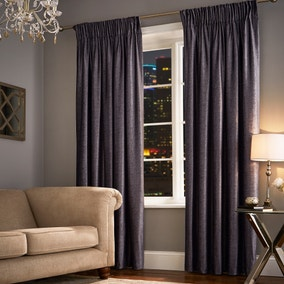 Broadway Charcoal Pencil Pleat Curtains