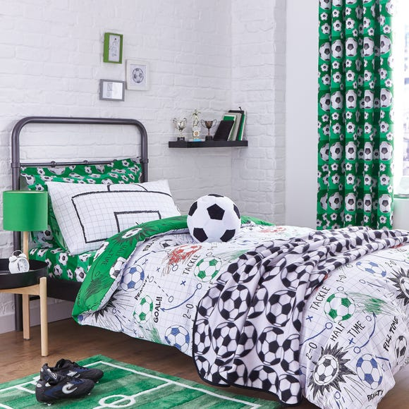 Football Duvet Cover and Pillowcase Set Green undefined