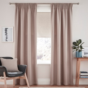 Henley Natural Pencil Pleat Curtains