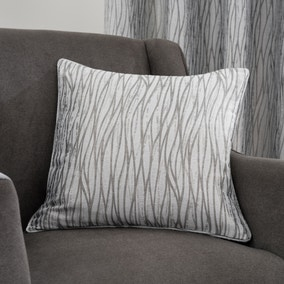 Linear Waves Silver Cushion