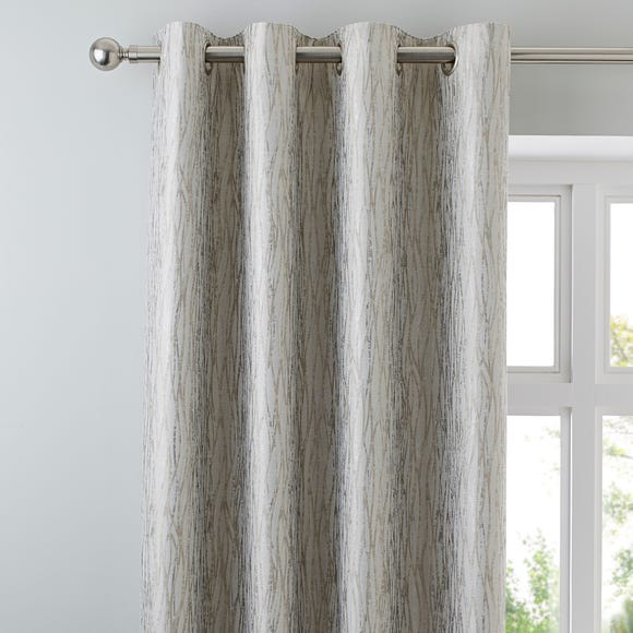 Linear Waves Natural Eyelet Curtains  undefined