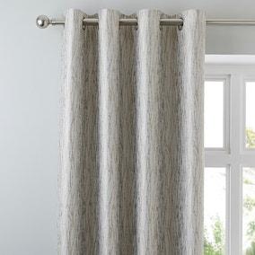 Linear Waves Natural Eyelet Curtains