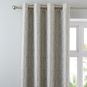 Linear Waves Natural Eyelet Curtains