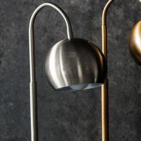 Gallery Direct Dallas Brushed Nickel Task Desk Lamp