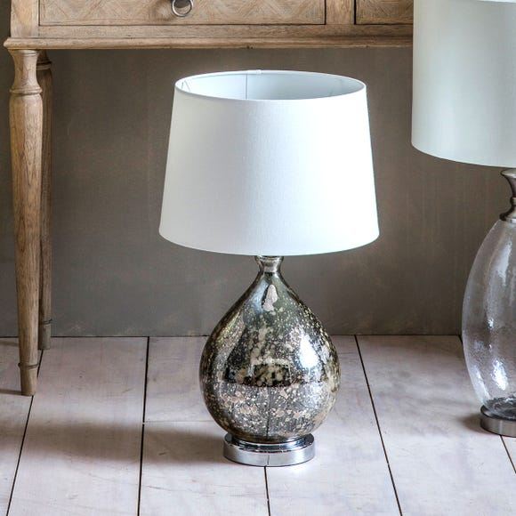 Gallery Direct Lumley Mottled Glass Table Lamp Grey