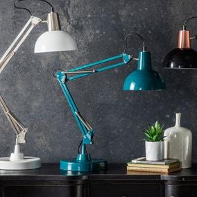 Gallery Direct Watson Task Desk Lamp Teal