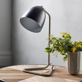 Gallery Direct Denver Brushed Nickel Task Desk Lamp Black