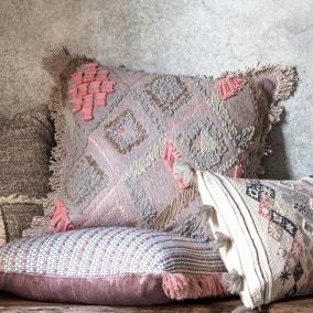 Gallery Direct Farha Embroidered Dusky Blush Cushion