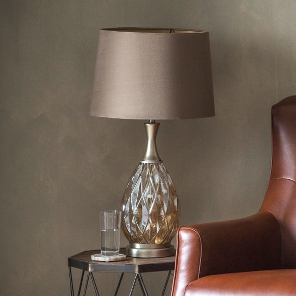 Gallery Direct Clarence Table Lamp Champagne Natural