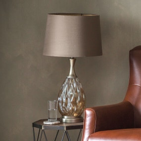 Gallery Direct Clarence Table Lamp Champagne