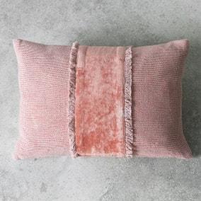 Gallery Direct Ariel Fringe Dusky Blush Cushion