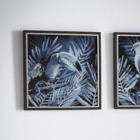 Midnight Birds II Framed Wall Art