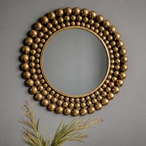 Clayton Antique Gold Leaf Mirror