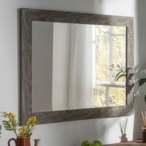 Yearn Framed Mirror Grey