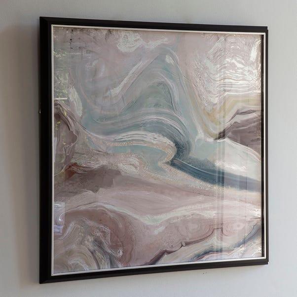 Crystal Fluid Abstract Framed Art Pink
