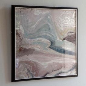 Crystal Fluid Abstract Framed Art