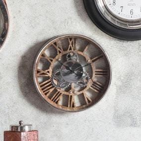 Fairbank Polished Nickel Wall Clock