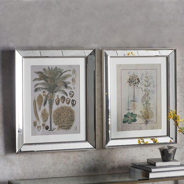 Botanica Floral II Set of 2 Framed Wall Art Natural