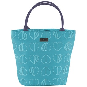 Confetti Outline Teal Lunch Tote Bag