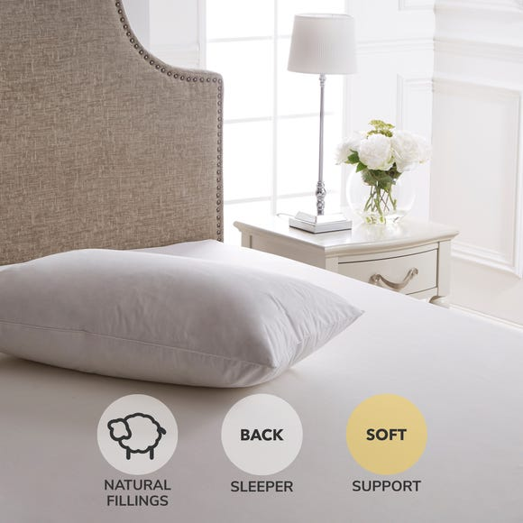 Dorma Luxurious White Goose Down Soft-Support Pillow
