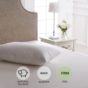 Dorma Luxurious White Goose Down Firm-Support Pillow
